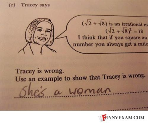 Tracey is wrong...