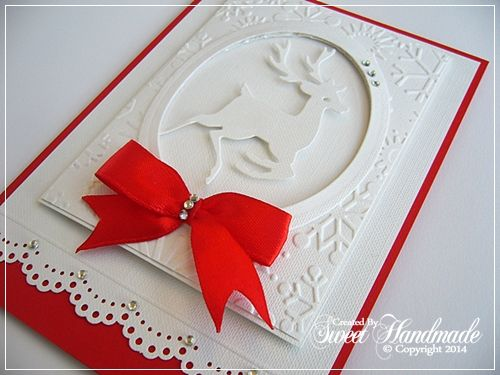 White & Red Christmas card