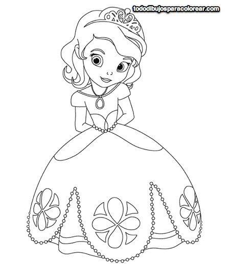 13 best princesas para colorear images on Pinterest | Coloring books ...