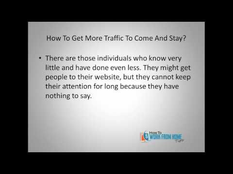 Many online business owners want to know how to get more web traffic to their sites. Every online business owner should be heavily investing in their education. Why? Well watch the video and find out. >> web traffic, get more web traffic --> http://howtoworkfromhometips.com/makemoney/how-to-get-more-web-traffic-to-come-and-stay/