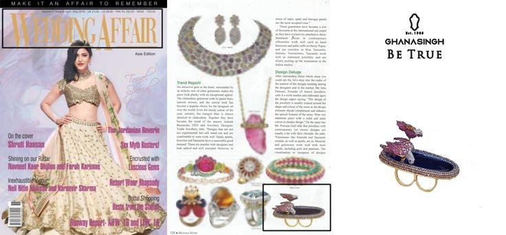 "#Ghanasingh Be True Presents ""BIRD OF PARADISE"" Collection Got Featured in WEDDING AFFAIR MAGAZINE."