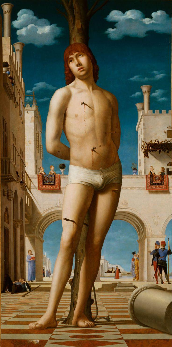 Saint Sébastien d'Antonello de Messine. 1478 Gemäldegalerie Dresde