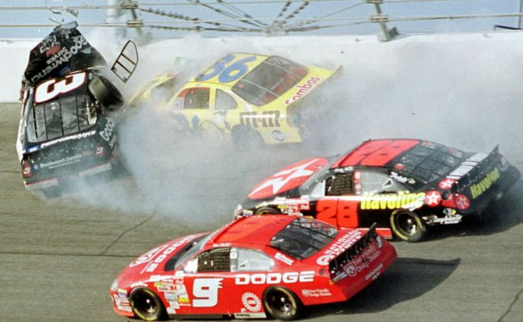 Dale Earnhardt Crash | Dale Earnhardt Sr.'s car crashes into the wall on the final lap of the ...