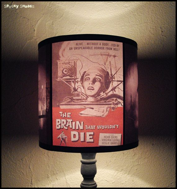 Horror Night lamp shade  lighting gift for a geek by SpookyShades, €46.90