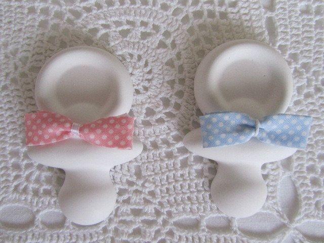 Gesso a forma di ciuccio per bomboniere nascita o battesimo, by ♥La casa di Gaia♥, 1,50 € su misshobby.com