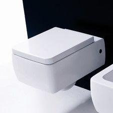 *2ND LEVEL ENTRY FULL BATH Kerasan Ego Wall Mounted 1 Piece Toilet