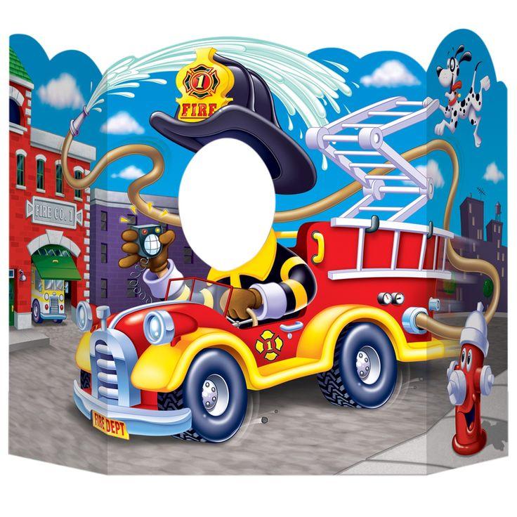 Fire Trucks Photo Prop | BirthdayExpress.com