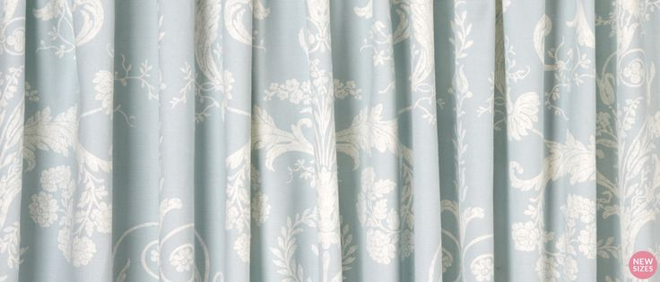 Josette Duck Egg Ready Made Curtains at Laura Ashley