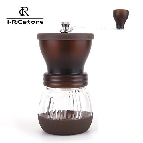 RC Manual Ceramic Burr Coffee Grinder, Hand-crank Coffee Mill (Brown) - http://teacoffeestore.com/rc-manual-ceramic-burr-coffee-grinder-hand-crank-coffee-mill-brown/