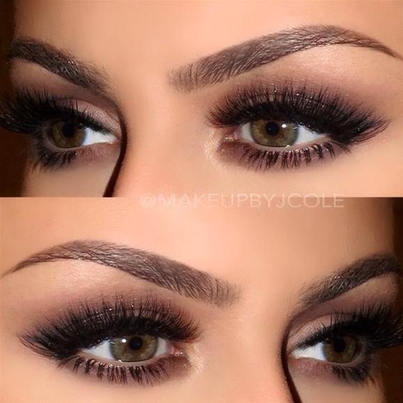 Neutral eyes false lashes by makeupbyjcole pampadour eotd inspiration - Tendance make up 2017 ...