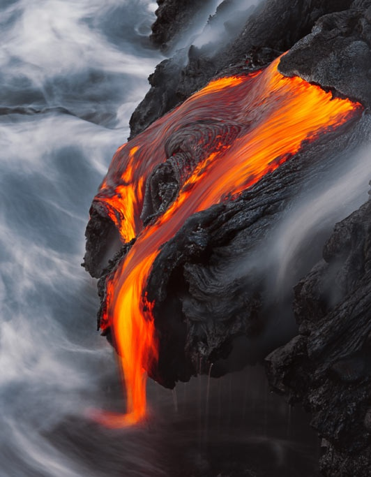 The 4,100-feet-high Kilaeua volcano is one of Hawaii's youngest and most active volcanos