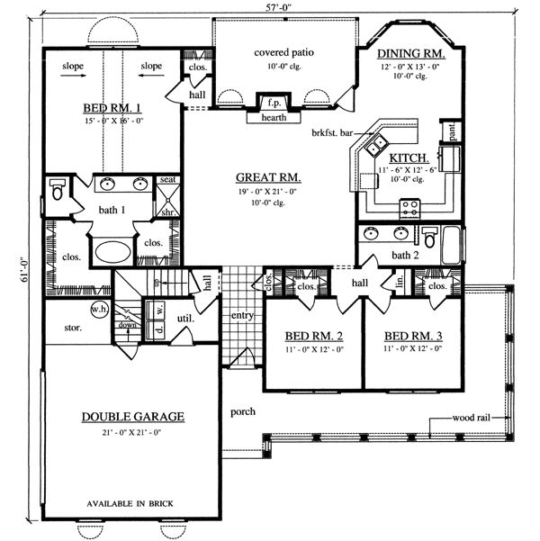 Main Floor Plan- ditch the stair & make mud room & add sink in laundry
