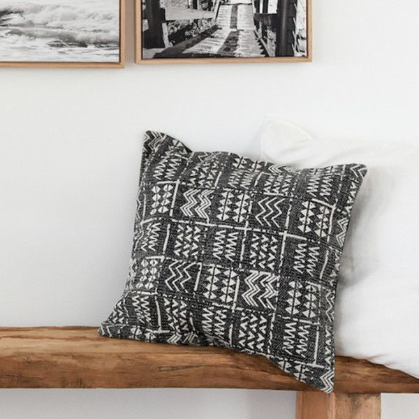 Tribal Cushion - Charcoal