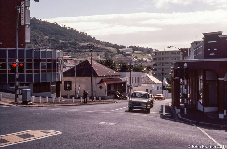 Looking down Kloof street in April 1978. Taken on the corner of Camp and Kloof.