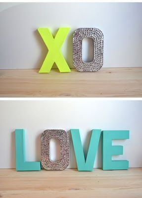 Fontaholic: Tuesday Tips: DIY Letter Art (Neon/Rhinestone, Metal Industrial, Yarn, Map, etc)