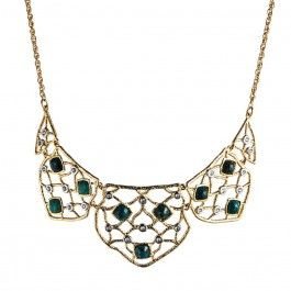 Mosaic Small Lace Bib Necklace