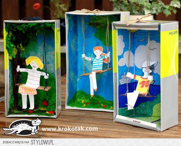 Wykorzystaj puste pudełeczka i pozwól dziecku zrobić ci… na Stylowi.pl