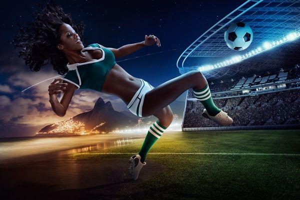 """Brasil 2014 """"Copa do Mundo Inspirado"""" Calendário do futebol por Tim Tadder, via Behance"""