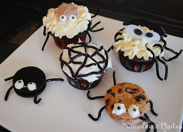 Spider Cupcakes and Cookies