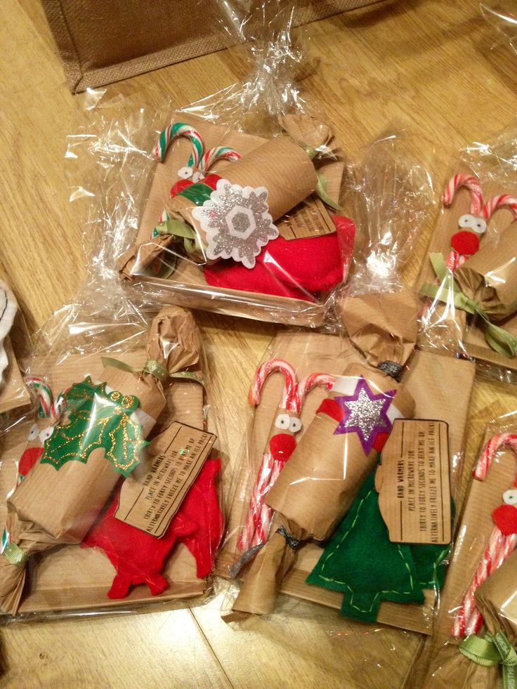 Homemade christmas gift hampers peppermint reindeers