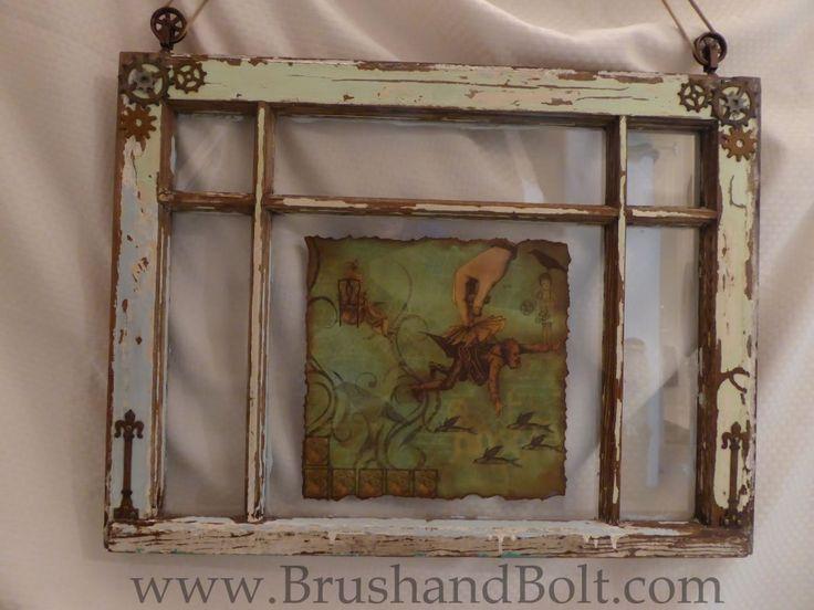 Antique window turned into Steampunk art