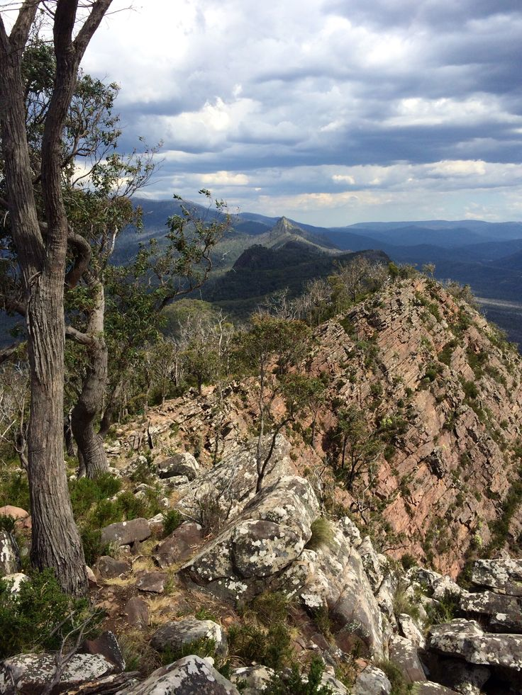 Cathedral Ranges State Park: Cathedral Peak; Razorback in the distance Victoria, Australia (December 2014)