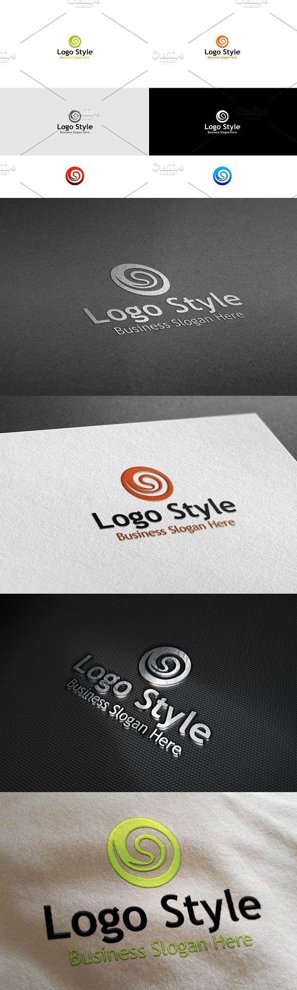 Circle Style Logo Pinterest
