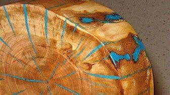 Rheinperle Treibholz DriftWood Epoxidharz Epoxy Resin Artwork Woodworking - YouTube