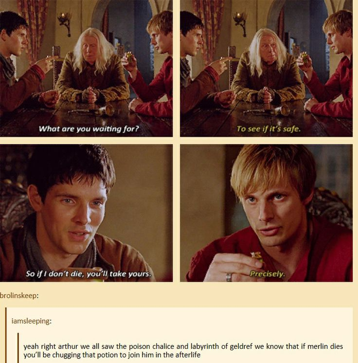 This explains Merlin and Arthur's relationship so well!