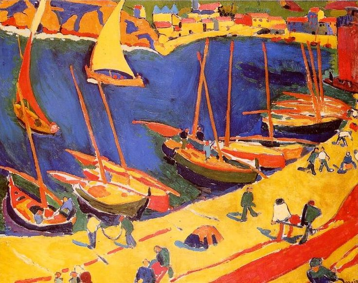 Le port de pêche, Collioure. / The fishing port, Collioure. / Fauvisme. / By André Derain.