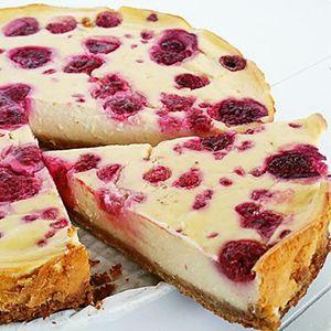 Gezonde cheesecake citroen en framboos  Aifryer: 140C 50 mins