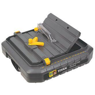 £40  Titan TTB336TCB 500W Tile Saw 230V | Tile Saws | Screwfix.com