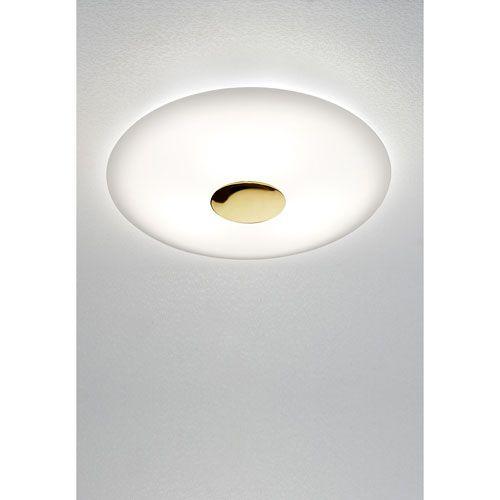 Axis Aged Brass Two Light Flush Mount Robert Abbey Semi Flush Flush & Semi Flush Lighting