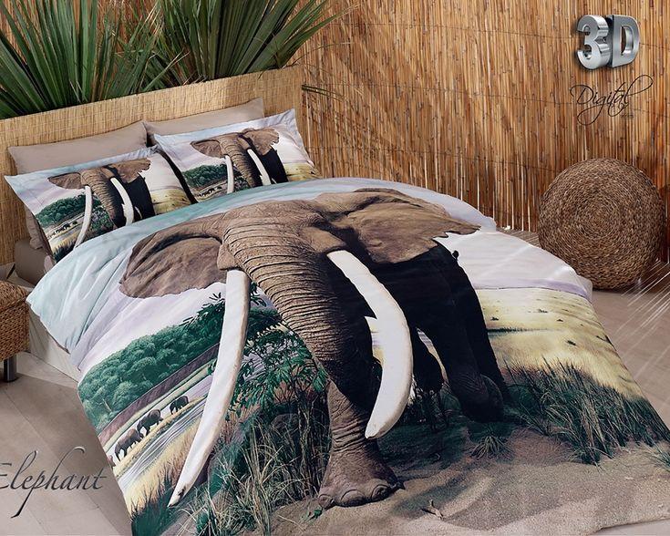 3D Delux Cetim Elephant Jogo de (LENÇOL) Cama– CASAL DUVET COVER SET - Produtos Importados da Turquia - Loja VirtualProdutos Importados da Turquia – Loja Virtual