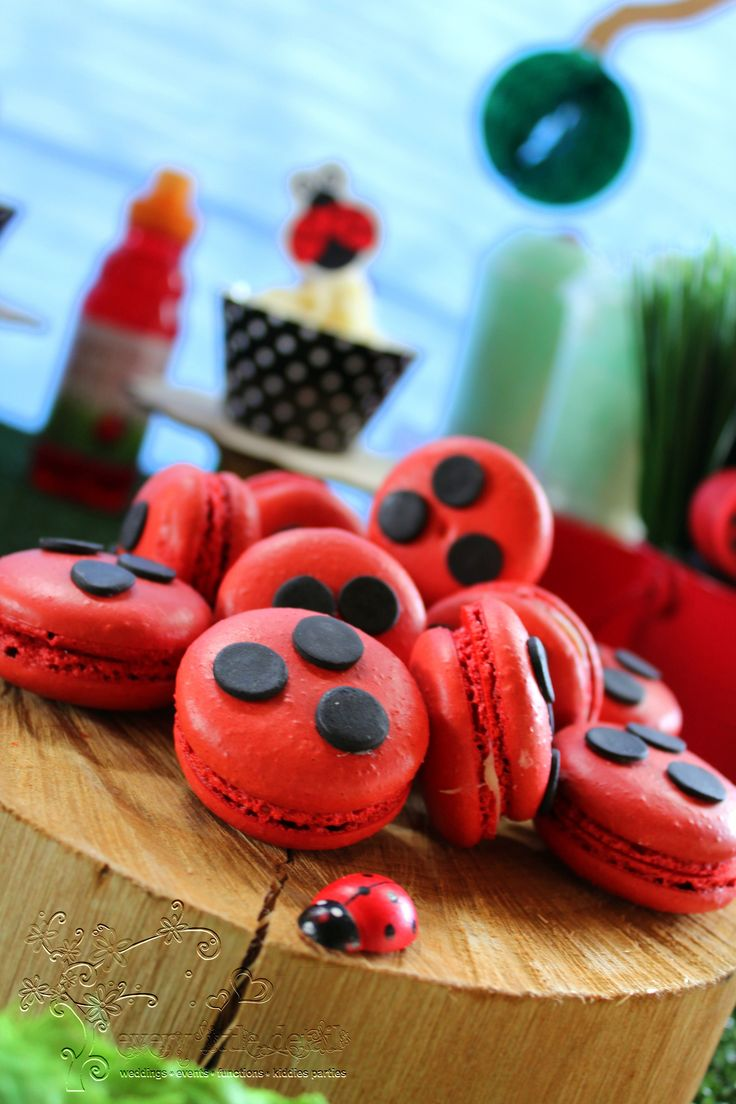 Dotted Macaroons #Ladybug #1stBirthday
