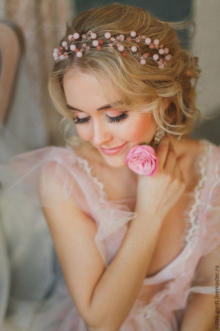 Купить Украшение для невесты. Свадебный ободок Свадебное украшение в прическу - ободок для волос, свадебный ободок