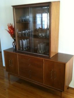 Drexel china cabinet hutch piece in its new home.