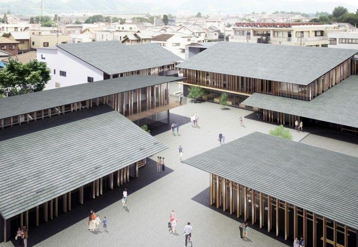 隈研吾建築都市設計事務所 『(仮称) 富岡市新庁舎 』(進行中) https://www.kenchikukenken.co.jp/works/1362634144/2372/ #architecture #建築