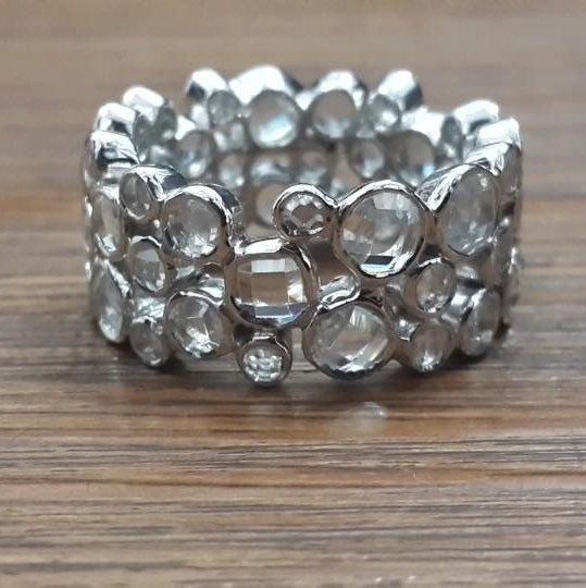 925 sterling silverClear AAAAA grade cubic zirconia bubble band by IsaBellaJewellery on Etsy
