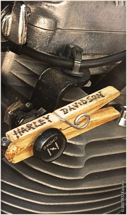 good idea! Unfortunately, since it says Harley Davidson, it probably costs 8x more than a regular clothespin.