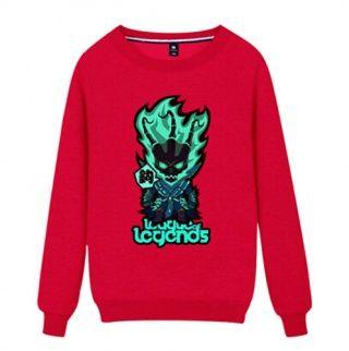 League of Legends Thresh camisola para homens gola