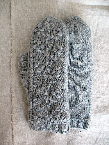 Cable and bobble mittens - Ravelry