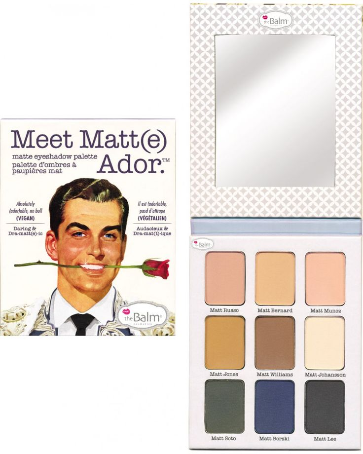 Meet Matt (e ) Ador - Παλέτα Σκιών by The Balm