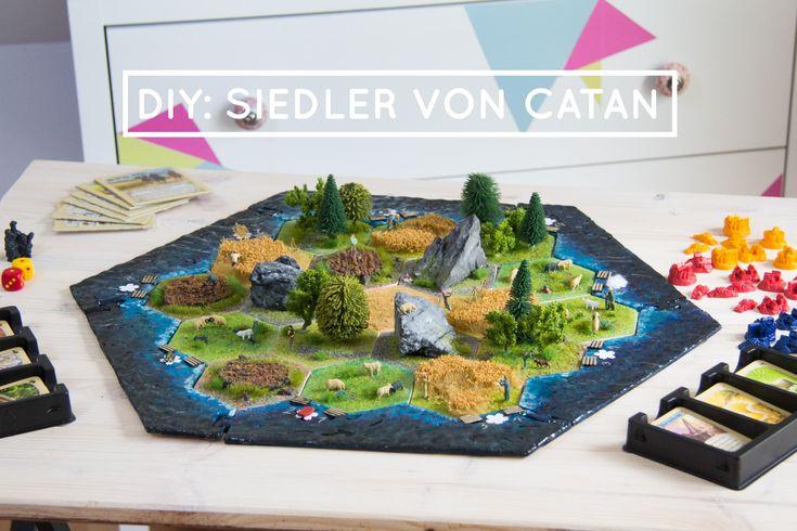 Mega DIY! Die Siedler von Catan in 3D! Für alle Spiele-Fans genau das richtige! Mit Miniaturfiguren.