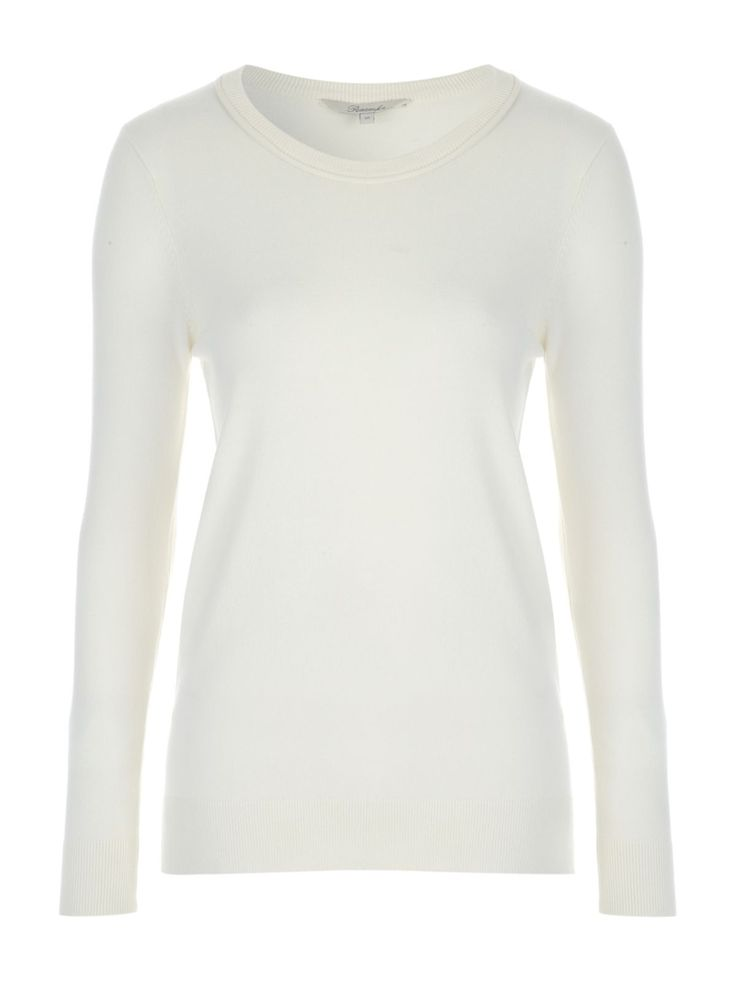 This women's cream round neck jumper is the perfect update for your collection of everyday wardrobe essentials. Featuring a ribbed hem, neck and cuffs, this ...