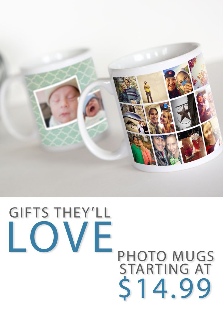 Looking for a great gift? Why not check out our selection of photo mugs, travel mugs, and water bottles. 11oz mugs are just $11.99 when you order 2 or more, and shipping is still free on orders of $50 or more until November 28th.