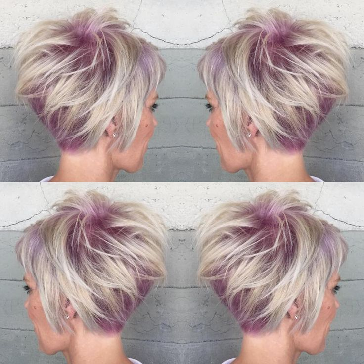 Pastel Lilac Pixie Wish I cld do this style with my hair