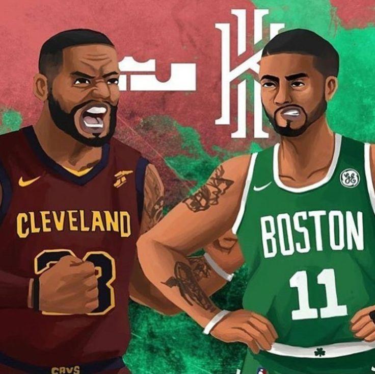 Lebron James vs. Kyrie Irving. Basketball ...