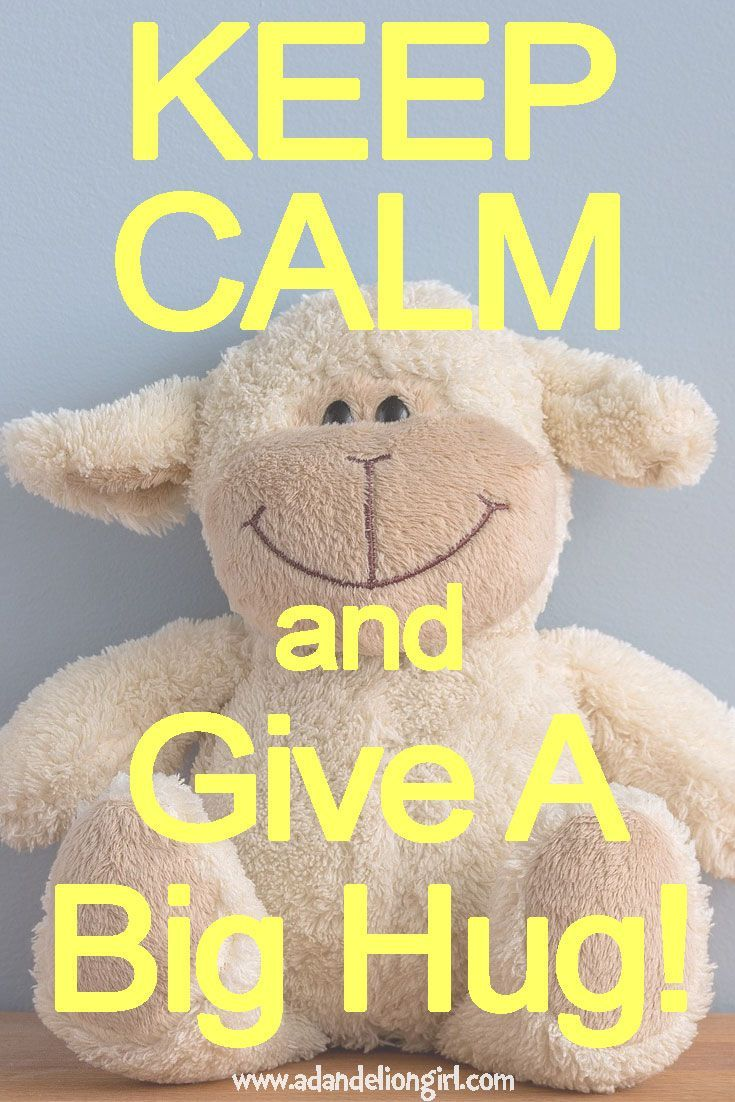 Children's Quotes - KEEP CALM and Give Warm Hugs! http://www.adandeliongirl.com/#!childrens-quotes/cy19