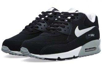 shoes black gray nike air max 90 nike air max nike air max 90 black